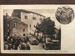 (Corse) San Nicolao « Arrivee Du Ministre Pietri» - Autres Communes