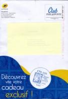 """FRANCE PAP Enveloppe Prêt à Poster  PHIL@POSTE  """"  170 Ans """"   CLUB PHILAPOSTE      Internationale 250 Gr - Pseudo-interi Di Produzione Ufficiale"""
