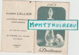 Vieux Papiers:  , Calendrier 1968 , Calvados  Saint  Pierre  Sur Dives ,  Cheramy  Parfum , Paris - Klein Formaat: 1961-70