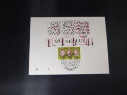 """BELG.1964 1306 FDC (Bruxs) Filatelic Card N°8 : BENELUX """" - 1961-70"""