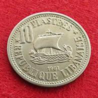 Lebanon 10 Piastres 1961 KM# 24  Liban Libano Libanon - Libanon