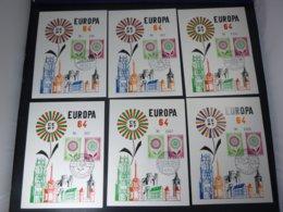 "BELG.1964 1298-99 FDC "" Europa 1964 "": HK Limited Edition GENT,TONGEREN,KORTRIJK,LIEGE,BELOEIL & ANDERLUES - FDC"