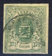 """1859 Stemma - 37-1/2 C. Verde    - Fixed In The Edge (variety """"37"""" Unplugged) - 1859-1880 Armoiries"""