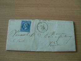 CP 162 /  NAPOLEON N° 22 SUR LETTRE - 1862 Napoléon III