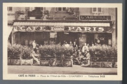 CHAMBERY  Café De Paris   Animée    Voir Dos - Chambery