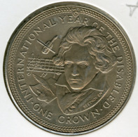 Ile De Man Isle 1 Crown 1981 UNC Année De L'handicap KM 77 - Monedas Regionales