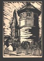 Linolschnitt Von Josef Wilden - Gauheim Des Neudeutschen Swidbertgaues - Düsseldorf 1937 - Paintings