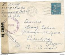 221 - 57 - Enveloppe Envoyée De Chicago En Allemagne 1946 - Censure - Zona Anglo-Américan