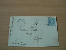 CP 162 /  NAPOLEON N° 29 SUR FRAGMENT DE  LETTRE / CACHET BM - 1863-1870 Napoléon III Lauré