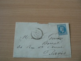 CP 162 /  NAPOLEON N° 29 SUR FRAGMENT DE  LETTRE / CACHET PERLE - 1863-1870 Napoléon III Lauré