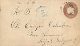 San Jose 1898 Nach Liege - Belgien - Via New Orleans (rs: Ankunftsstempel Liege) - Costa Rica