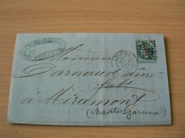 CP 162 /  NAPOLEON N° 29 SUR   LETTRE - 1863-1870 Napoléon III Lauré
