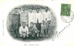 Laos Notables Laotiens + Beau Timbre 5  Indochine RV - Laos