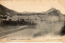 SISTERON  Vue Générale ( Côté Sud ) Carte écrite En 1907   Dos Simple - Sisteron