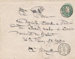 484/30 -- Entier Postal Enveloppe Double Cercle MONT ST GUIBERT 1873 Vers BXL - Ganzsachen