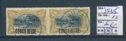 BELGIAN CONGO 1909 ISSUE COB 35L5 USED - Belgisch-Kongo