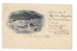23611 - Morgins Circulée En 1899 + Cachet Llinléaire Cours Tactique N° St-Maurice - VS Wallis