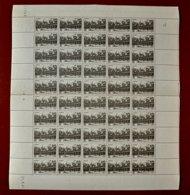 50 Timbres ++ Sur Feuille Année 1941 N° 499 Hôtel -Dieu De Beaune - Feuilles Complètes