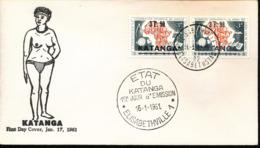 KATANGA FDC 1961 COB 50/51 - Katanga