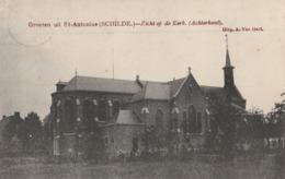 GROETEN UIT ST.ANTONIUS(SCHILDE)-ZICHT OP DE KERK-ACHTERKANT. - Schilde
