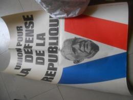 Vieux  Affiche   General De Gaulle - Documenti Storici