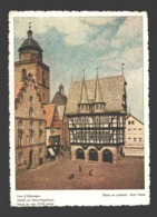 Buvard / Vloeipapier - Vues D'Allemagne - Alsfeld En Hesse-Supérieure: Hôtel De Ville / Alsfeld In Hessen: Rathaus - Carte Assorbenti
