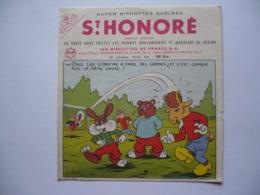 BUVARD  - ST HONORE -SUPER BISCOTTES SABLES - Illustrateur PESCH - Biscottes