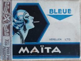 Belle Boite En Carton A Cigarettes Art Déco Pub Cigarettes MAITA - Boîtes