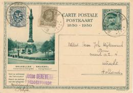 493/30 -- Entier Illustré Képi 35 C.+ TP RUDDERVOORDE 1930 Vers UTRECHT NL - Expéd. Deneweth , Tekst Aankoop Patrijzen - Ganzsachen