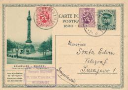 494/30 -- CANTONS EST - Entier Illustré Képi 35 C.+ TP HERBESTHAL 1932 Vers SARAJEVO Bosnie  - Expéditeur à WELKEZNRAEDT - Stamped Stationery