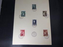 """BELG.1944 647/652 FDC Feuillet Filatelic : """"  Van Dyck   """" - FDC"""