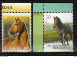 Macedonia 2009 Fauna, Horses, Set MNH ** - Pferde