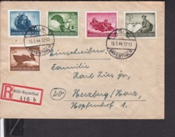 EinschreibBrief Deutsches Reich Stempel Köln - Bayenthal 1944 - Allemagne