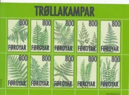 2008 Faroe Ferns Miniature Sheet Of 10  MNH - Other