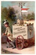 Chromo CHOCOLAT EXPRESS  GRONDARD PARIS  BOUSSOLE SUR LA CHARETTE - Chocolat