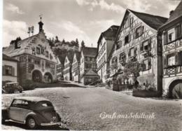 < Automobile Auto Voiture Car >> VW Volkswagen Cox Beetle Käfer Cabriolet Karmann, Mercedes 170, Gruss Aus Schiltach - Voitures De Tourisme