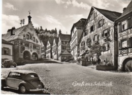 < Automobile Auto Voiture Car >> VW Volkswagen Cox Beetle Käfer Cabriolet Karmann, Mercedes 170, Gruss Aus Schiltach - Turismo