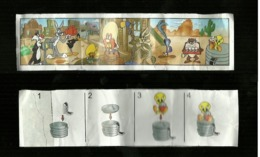 Kinder Ferrero BPZ - Cartina  2002 Looney Tunes - Titti - Istruzioni