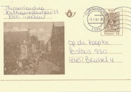 498/30 -- Entier Illustré Moderne GENT La Grande Boucherie - La Carte Moderne La Plus Rare - TURNHOUT 1992 - Stamped Stationery