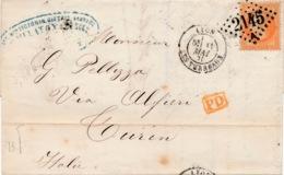 LAC 40 C N° 31 Lyon à Turin (Italie) B. - 1849-1876: Période Classique