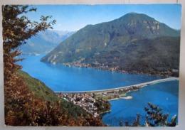 Lugano  Melide Dal Monte Salvatore SVIZZERA Cartolina  Viaggiata 1974 - TI Tessin