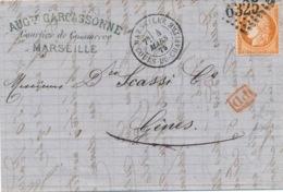 LAC 40 C N° 38 Marseille à Gênes (Italie) TB. - 1849-1876: Période Classique