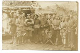 77-LA CHAPELLE-LA-REINE-CARTE PHOTO-Groupe De Militaires Du 22e Et 83e Régiment... 1918 - La Chapelle La Reine