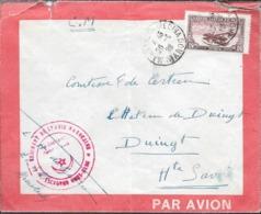 ENVELOPPE CIRCULEE 1928 MARRAKECHMEDINA A LA COMTESSE DE CERTEAU A DUINGT HAUTE SAVOIE LIGNE FRANCE MAROC RARE ET BELLE - Morocco (1891-1956)