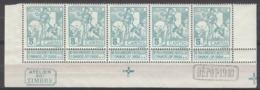 "Belgium  86  XX (MNH) Strip Van Vijf Met DEPOT 1910 En ""atelier Du Timbre""  Cote 40,00 Euro - 1910-1911 Caritas"