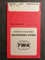 Old Heavy Paper Boarding Pass TWA AIR LINES  Cca 1960's Airwais Airport - Instapkaart