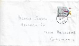 Macedonia Stamp Informatics Send To Germany - Macedonia