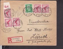 EinschreibBrief Deutsches Reich Stempel Darmstadt  1929 - Briefe U. Dokumente
