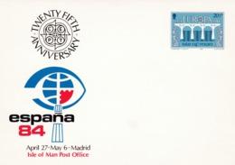 Man 1984 251-52 Entier Postal ** Europa Pont Coopération Européenne Exposition Philatélique Madrid España - Man (Ile De)