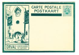 499/30 -- Entier Illustré ORVAL Sans Ange - Vert Foncé - ETAT NEUF- Cat. SBEP No 6 - Stamped Stationery